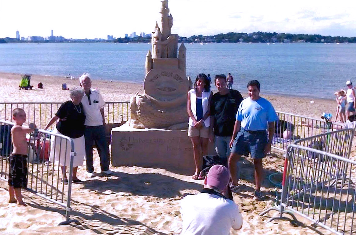 Kandalaft Family with Sandcastle